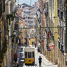 Lisbon Street with tram by SteveHphotos