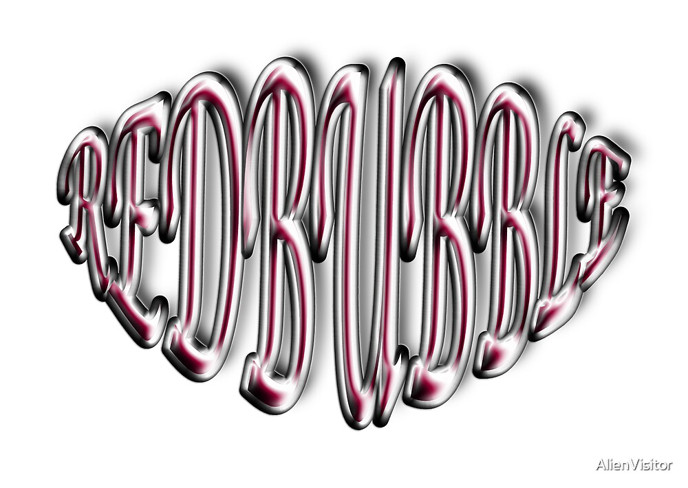 Playing around with type - RedBubble by AlienVisitor
