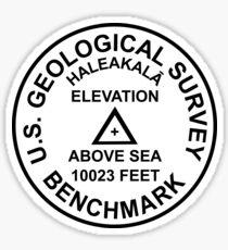 Haleakala, Hawaii USGS Style Benchmark Sticker