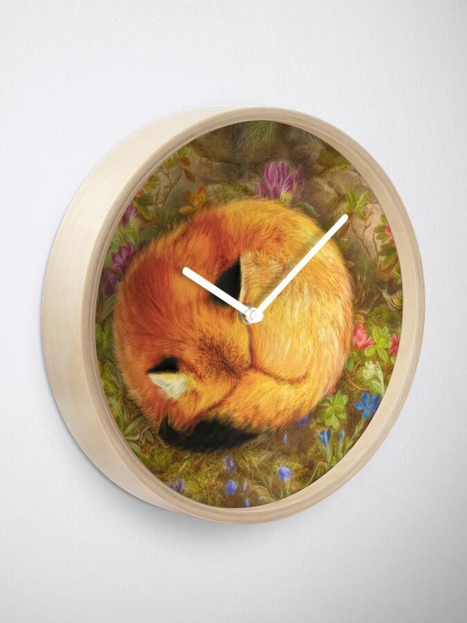 Alternate view of The Cozy Fox Clock
