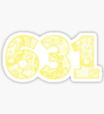 Pegatina 631 - amarillo
