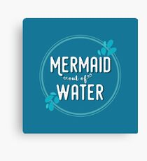 Mermaid Out of Water Canvas Print