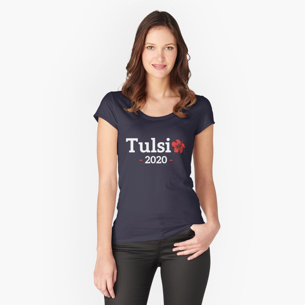 Tulsi Gabbard for President of the United States 2020 Fitted Scoop T-Shirt