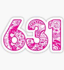 631 - pink Sticker