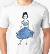 """Ella"" Fashion Watercolor Painting Design Unisex T-Shirt"