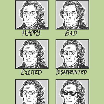 The Moods of George Washington by tayloredhistory