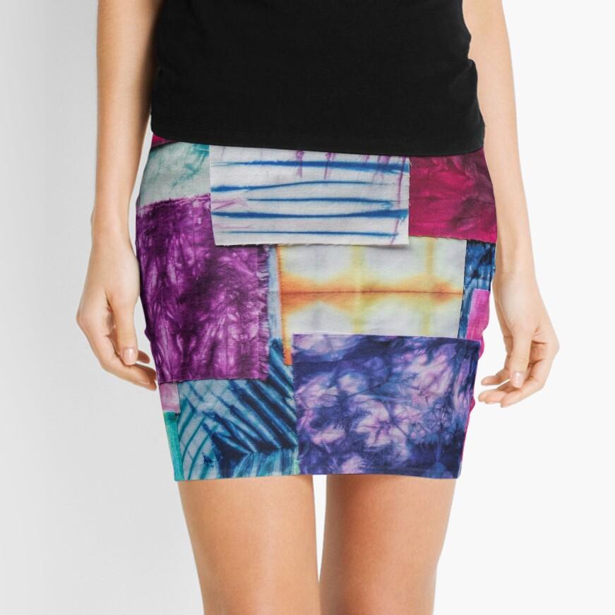 Shibori Rainbow Mini Skirt
