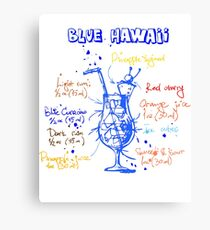 Fun, Colorful Blue Hawaii Cocktail Recipe Canvas Print
