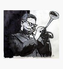 Dizzy Gillespie Study Photographic Print