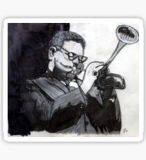 Dizzy Gillespie Study Sticker