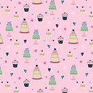 CAKES &CUPCAKES-PINK by Katie Kinnear