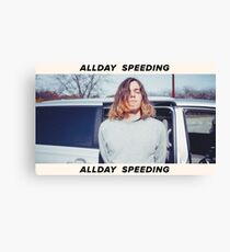 Allday Speeding Canvas Print