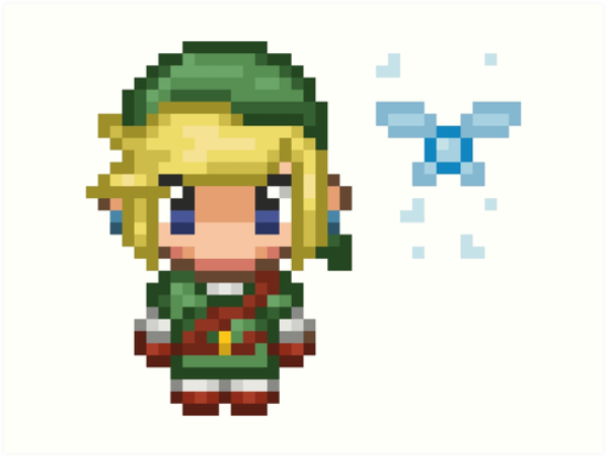 Quot Pixel Link Amp Navi Ocarina Of Time Without Text Quot Art