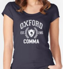 Oxford Comma Women's Fitted Scoop T-Shirt