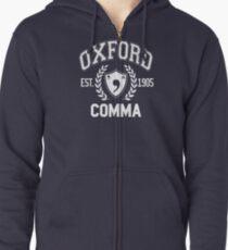 Sudadera con capucha y cremallera Coma de Oxford