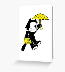 The Magical Black Cat  Greeting Card