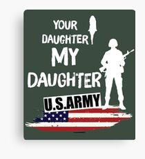 Army Daughter Shirt  Canvas Print