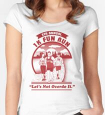 1K Fun Run T-Shirt - Let's Not Overdo It - Let There Be Tees Women's Fitted Scoop T-Shirt
