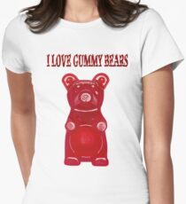 (✿◠‿◠) I LOVE GUMMY BEARS TEE SHIRT & VARIOUS-- APPAREL (✿◠‿◠) Womens Fitted T-Shirt