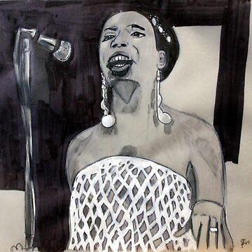 Nina Simone Study by rebeccagalardo