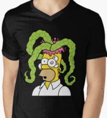 Tentacle Head Mens V-Neck T-Shirt