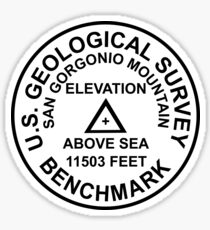 San Gorgonio Mountain, California USGS Style Benchmark Sticker