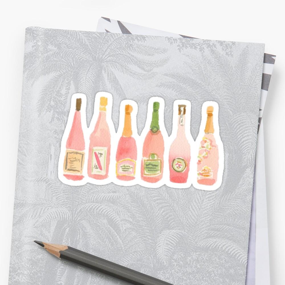 Champagner Rosé Aquarell Sticker