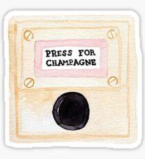 Press for Champagne Sticker