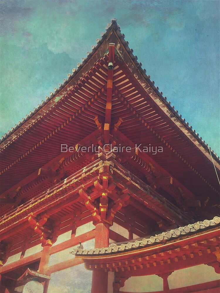 Roof Detail Todai-ji Temple Nara Japan by Beverly Claire Kaiya