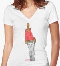Sketch Women's Fitted V-Neck T-Shirt