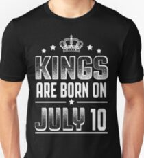 Kings Are Born On July 10 T-Shirt