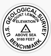 Mount Lemmon, Arizona USGS Style Benchmark Sticker
