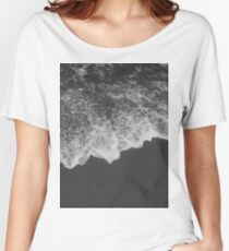 Black sand @ Sand City, CA Women's Relaxed Fit T-Shirt