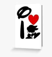 I Heart Thumper Greeting Card