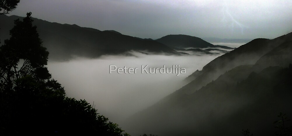 When Clouds Start Flowing Like Rivers, Mountains Become Islands by Peter Kurdulija