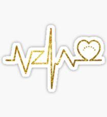 VENEZUELA FLAG 7 STARS GOLD LIFE LINE Sticker