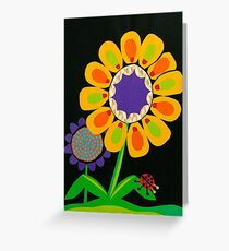 Flower As A Color Field Greeting Card
