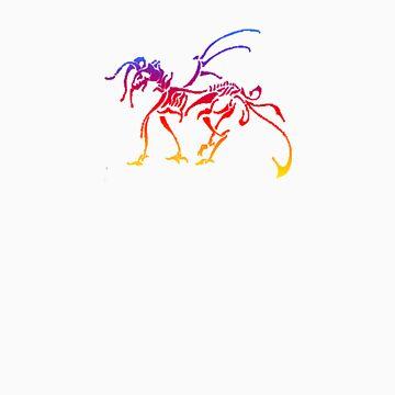 Rainbow Dragon by GaeaElf