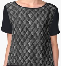 Feather Armor Scales - Black  Women's Chiffon Top