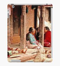 Front Porch Sitting, Nepal Style iPad Case/Skin