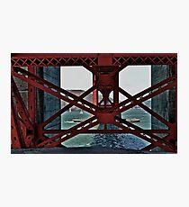 Under The GoldenGate Bridge Looking Toward Marin. Photographic Print