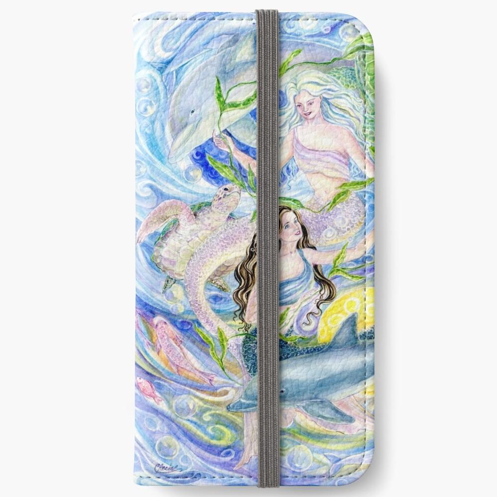 Yin Yang Meerjungfrauen iPhone Flip-Case