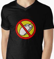 NO COMPUTER MOUSE TRAFFIC SIGN  Men's V-Neck T-Shirt