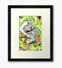 Rick & Morty Series Framed Print
