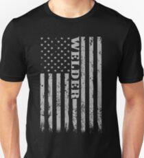 American Welder Flag Shirt, Proud Welders Unisex T-Shirt