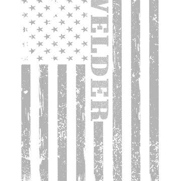 American Welder Flag Shirt, Proud Welders by WelderSurgeon