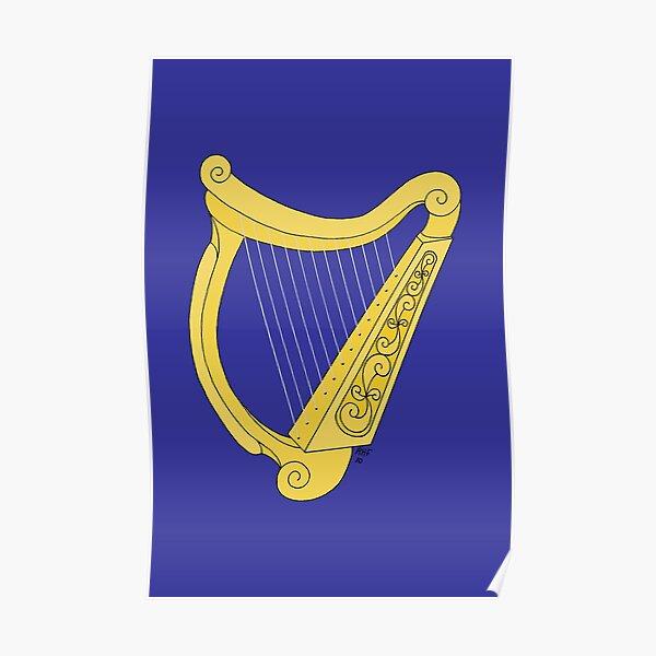 Personalised Ladies Girls Worlds Best Harpist Coaster Gift Daughter Harp Present