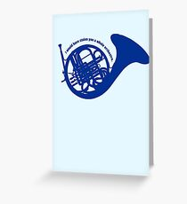 THE BLUE FRENCH HORN Greeting Card