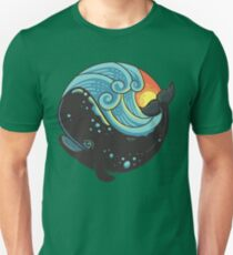 whale and sunset Unisex T-Shirt