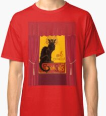 Le Chat D'Amour with Theatrical Curtain Border Classic T-Shirt